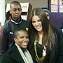 Khloe with Volunteer Mampho Mahau and students